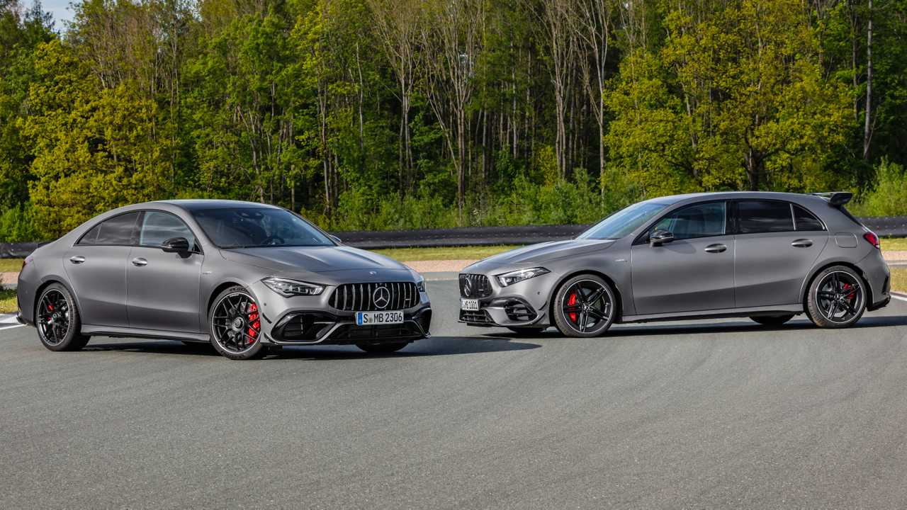 mercedes amg a45 s cla 45 s hit the track in official videos. Black Bedroom Furniture Sets. Home Design Ideas