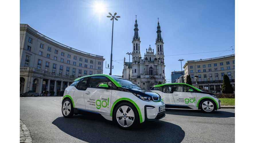 World's Biggest Car Sharing With BMW i3 Launches In Poland