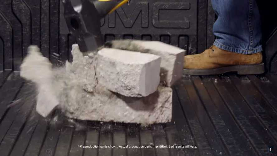 See GMC Sierra's Carbon Bed Endure The Sledgehammer Test