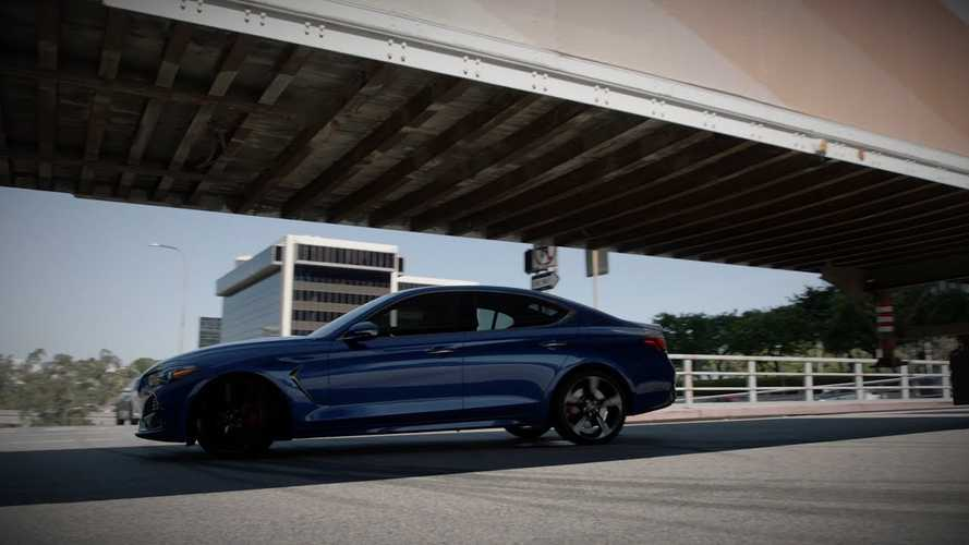 Watch The Genesis G70 Drift Under A Semi-Truck Trailer
