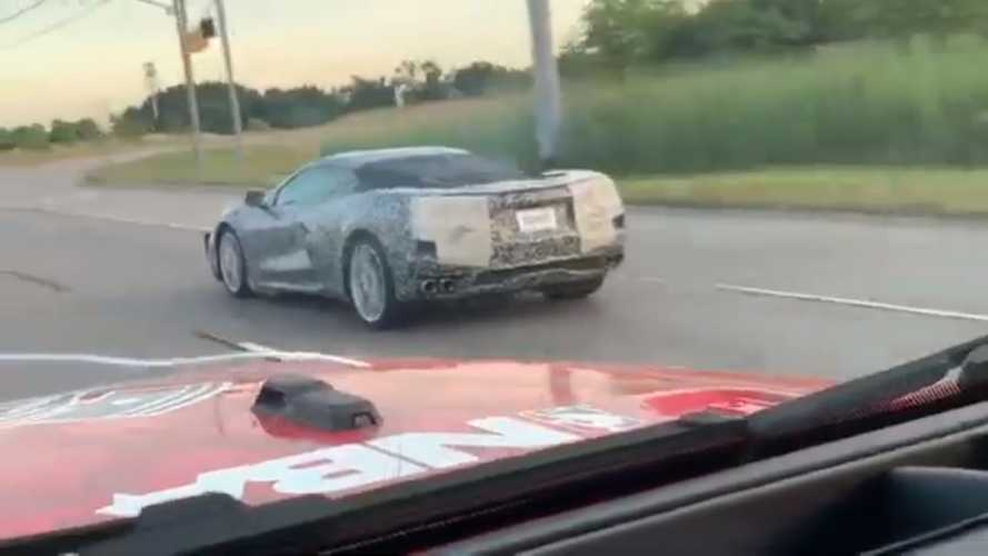 See C8 Corvette Prototypes Getting Stalked By Excited Motorists