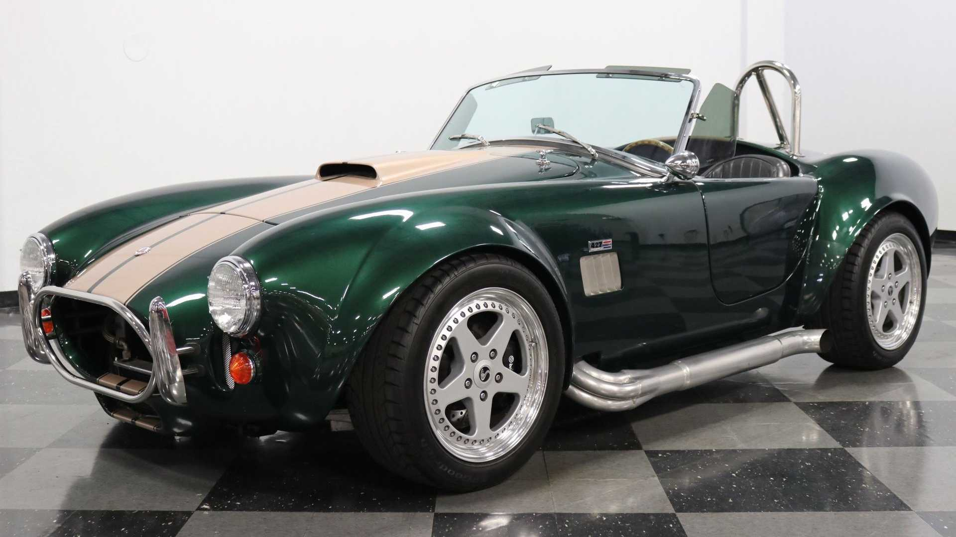 "[""1965 Shelby Cobra Everett-Morrison Shines Like An Emerald""]"