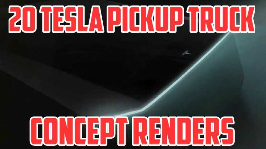 Tesla Pickup Truck Rendered In 20 Different Ways: Video