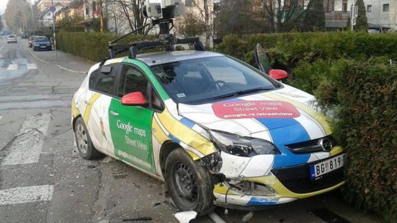 Google Maps Street View car crashes in Serbia on google earth camera car, google street view car, maps car with camera,