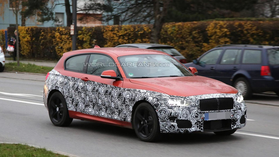 BMW 1-Series facelift spied inside and out