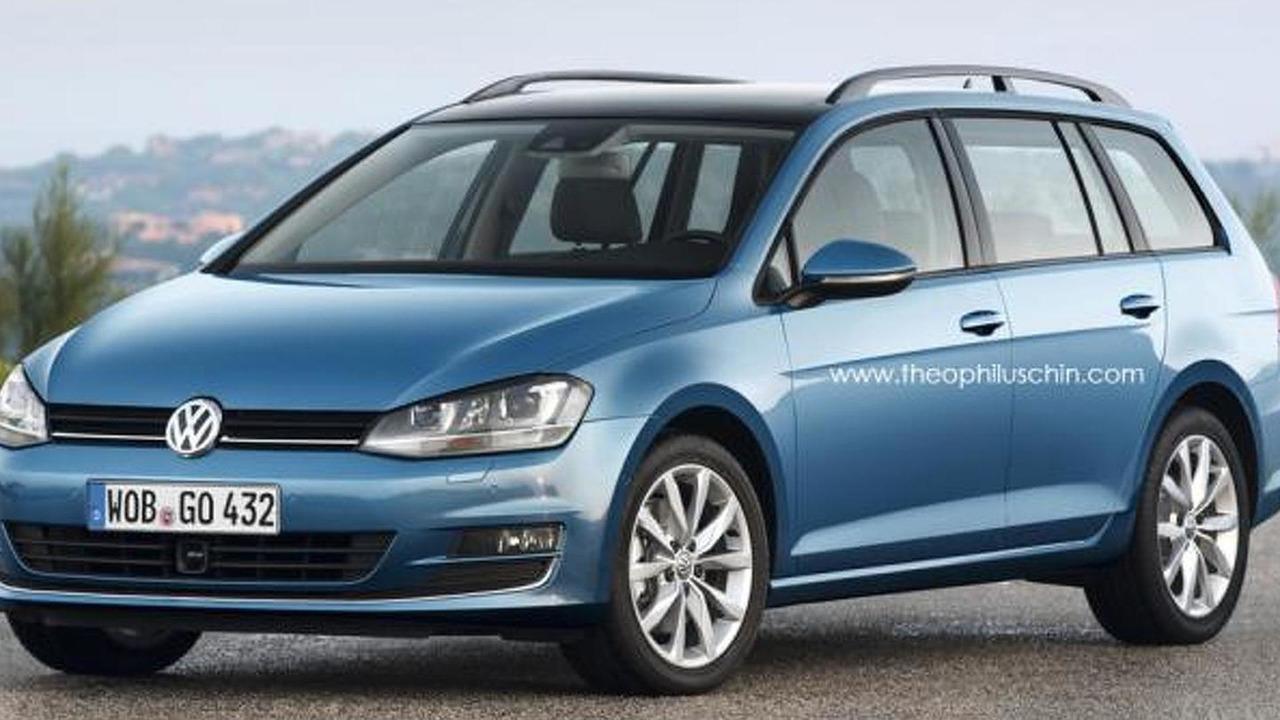 Volkswagen Golf VII Estate Wagon speculative rendering 27.11.2012