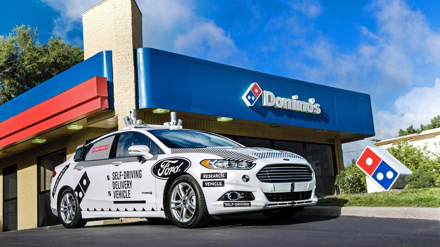 Domino's Pizza Ford Fusion autonome