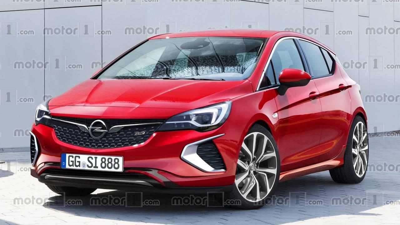Opel Astra GSi 2018 render