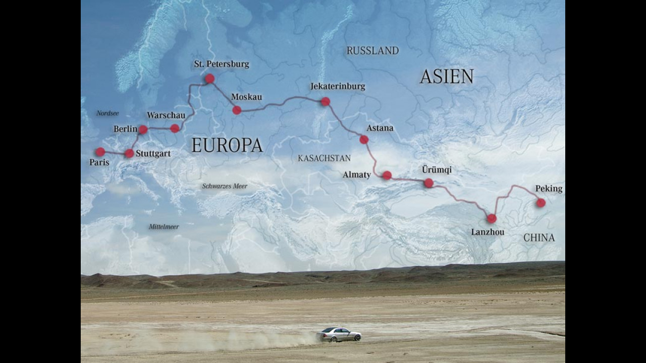 450.000 km in 26 giorni con Classe E