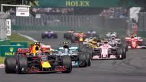 Max Verstappen, Red Bull Racing RB13 au départ
