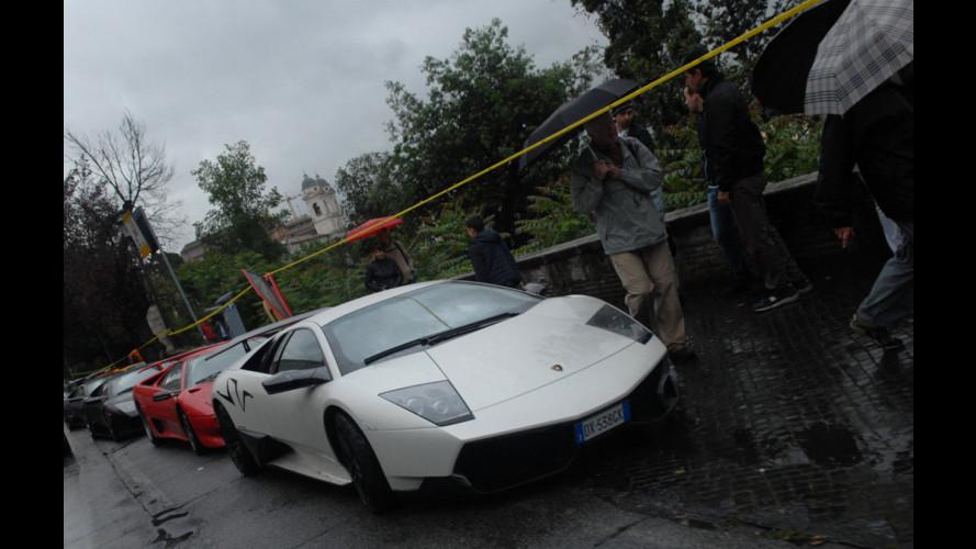 Arcobaleno Lamborghini a Roma