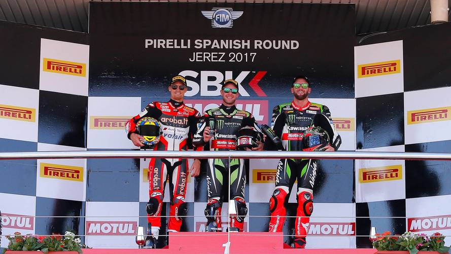 Rea gana en el WorldSBK de Jerez tras romper Melandri