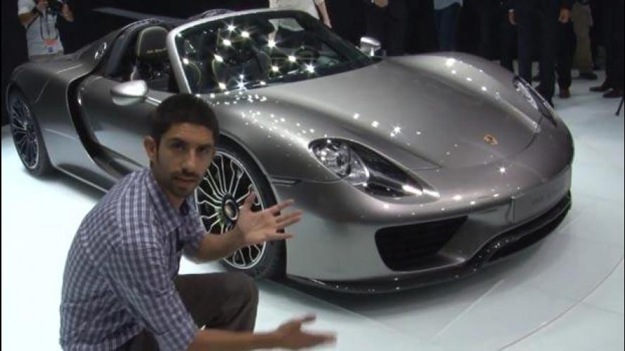 Salone di Francoforte: Porsche 918 Spyder, incontriamo l'auto da 340 km/h che fa 30 km/l [VIDEO]