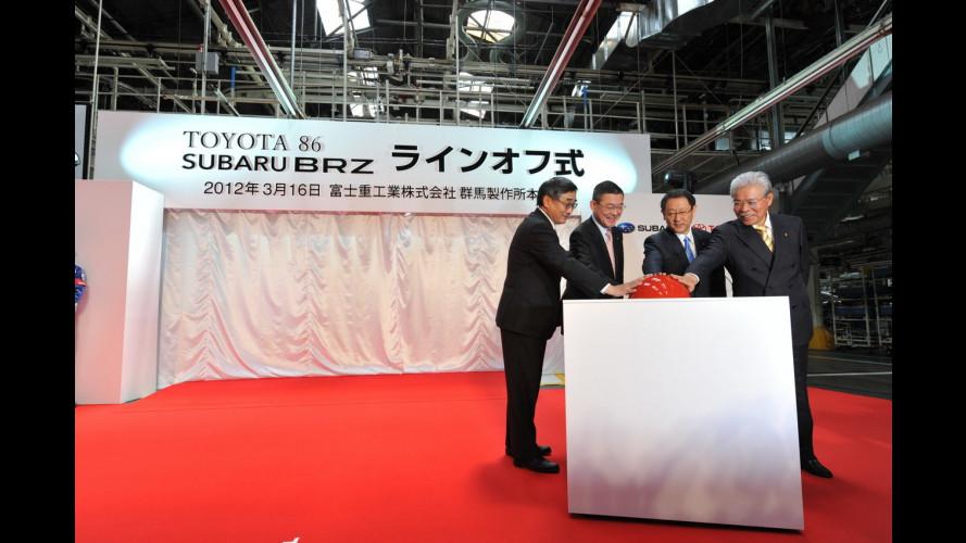 Subaru BRZ e Toyota GT 86: via alla produzione