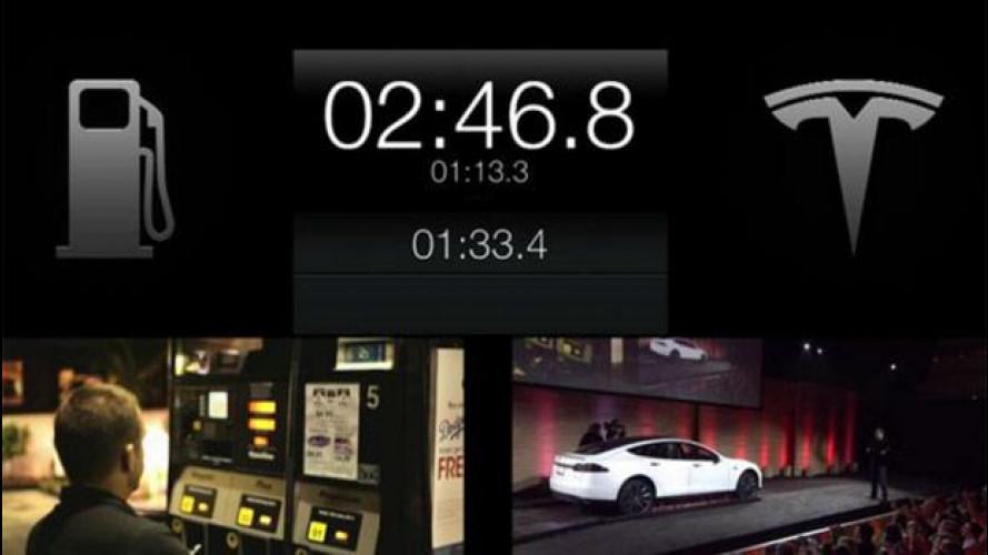 Tesla Model S: la batteria si cambia in 90 secondi