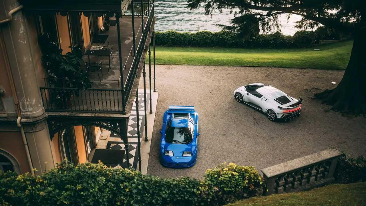 Bugatti Centodieci és EB110 a Concorso d'Eleganza Villa d'Estén