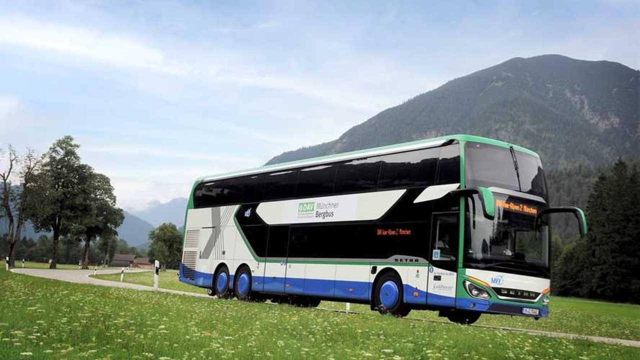 Setra, i bus S 531 DT del servizio alpino bavarese