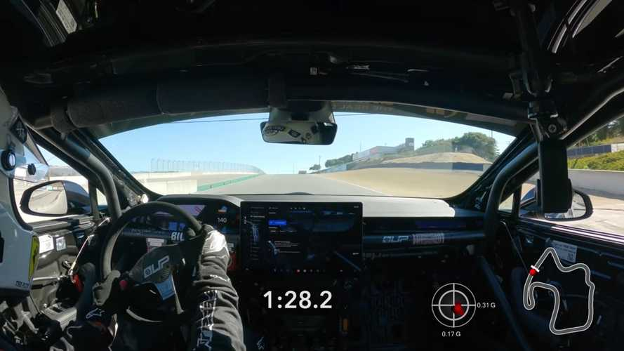 Watch Tesla Model S Plaid 1:28.213 Record Run At Laguna Seca