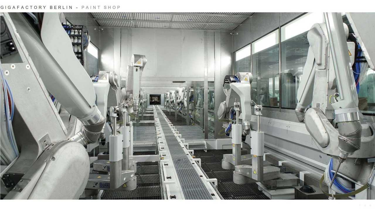 Tesla Giga Berlin (Gigafactory 4) - Paint shop (Tesla Q2 2021 report)