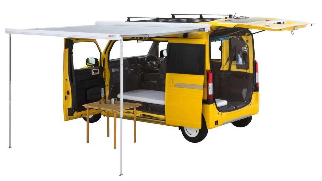 Honda N-Van, camper in miniatura