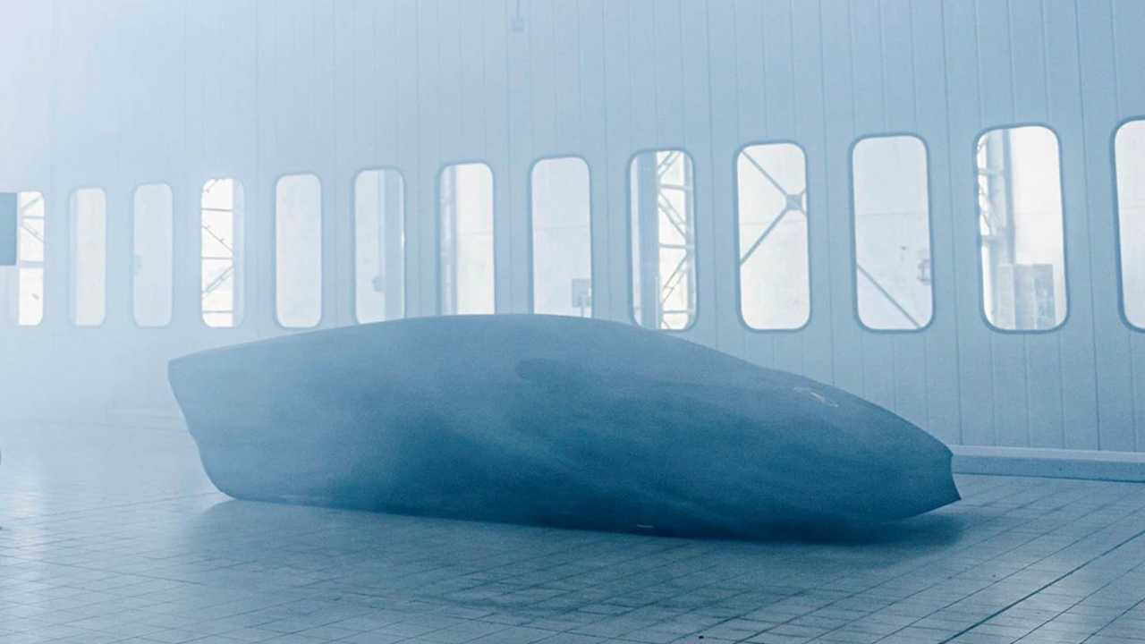 Teaser image for a new Lamborghini Countach.