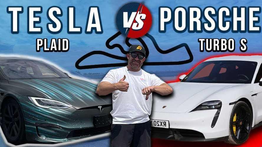 Tesla Model S Plaid Vs Porsche Taycan Turbo S: Road Course Battle