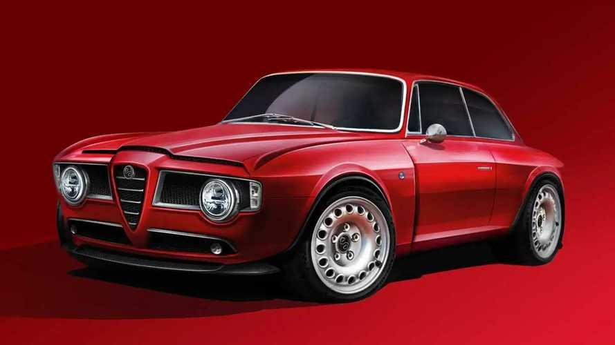 Este Alfa Romeo GT restomod lleva el motor del Giulia Quadrifoglio