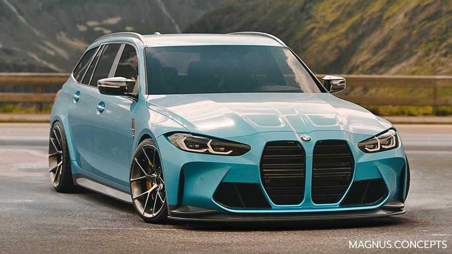 Así es el espectacular render del BMW M3 Touring