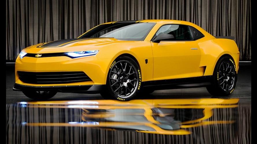 """Este é o Camaro Bumblebee que estará no filme """"Transformers 4"""""""
