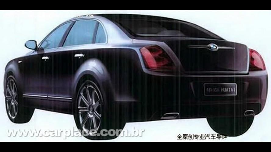 """Fabricante Huatai da China estaria preparando um """"clone"""" do Bentley Continental Sedan"""
