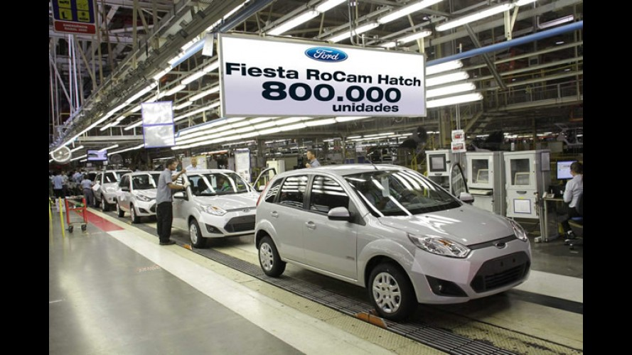 Ford Fiesta atinge 800.000 unidades produzidas no Brasil