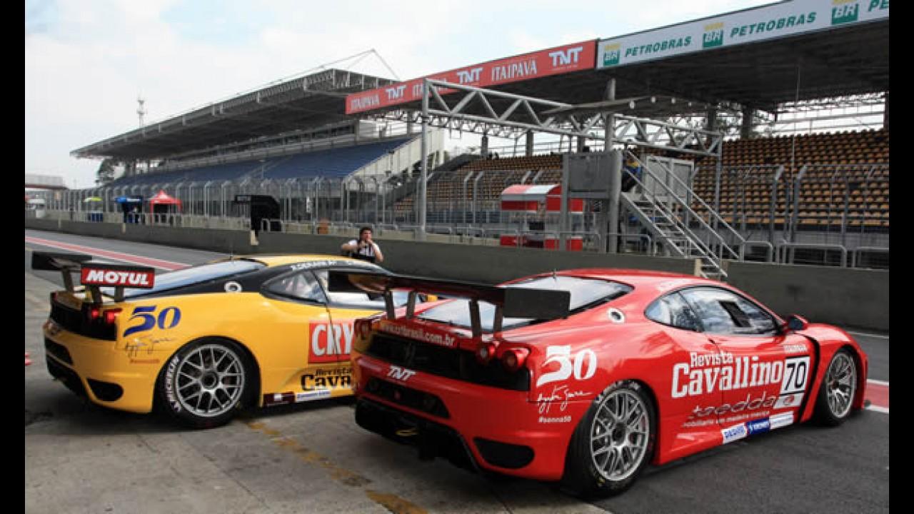 Itaipava GT Brasil: Equipe CRT homenageia 50º aniversário de Ayrton Senna em Interlagos