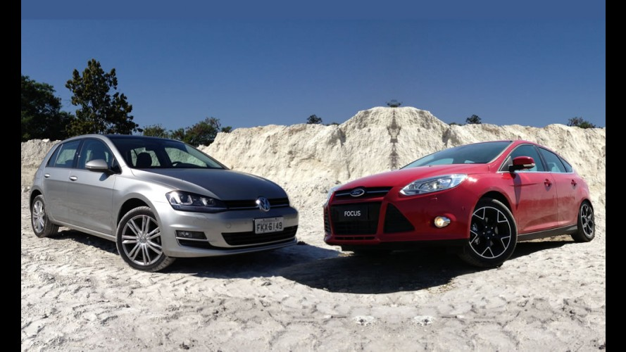 Tira-teima hatches médios: VW Golf 1.4 TSI Highline ou Ford Focus 2.0 Titanium?
