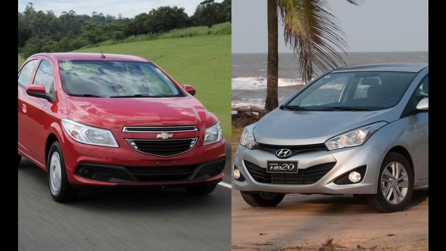HB20 e Prisma são destaques nas vendas de março
