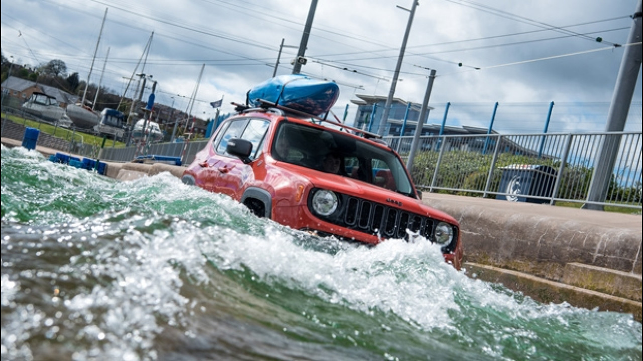 [Copertina] - Jeep Renegade come un kayak contro le rapide