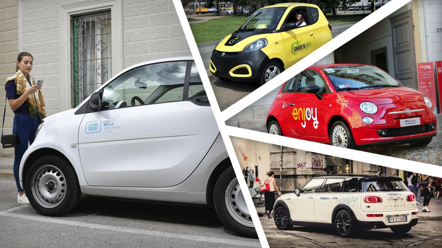 Car sharing, le tariffe 2017 a confronto