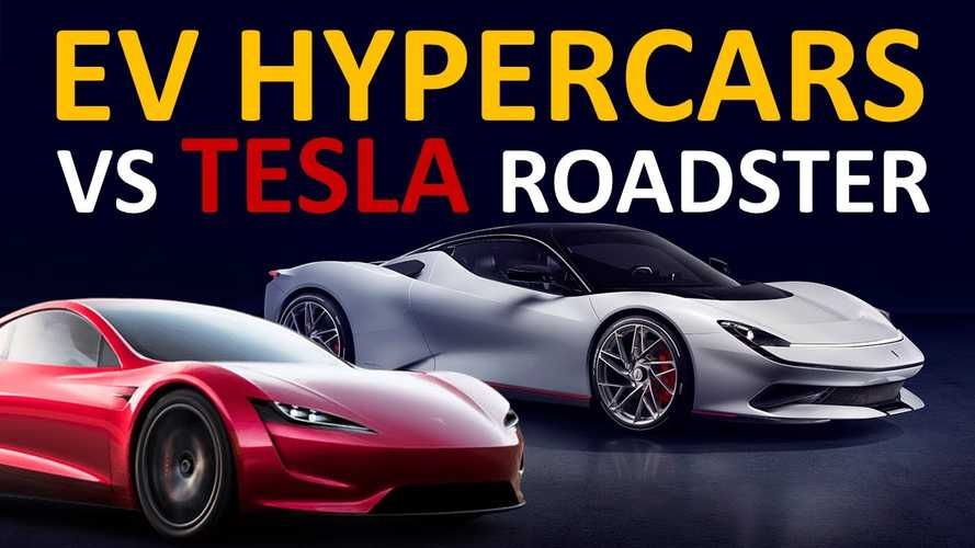 Upcoming Tesla Roadster Measured Against EV Hypercars