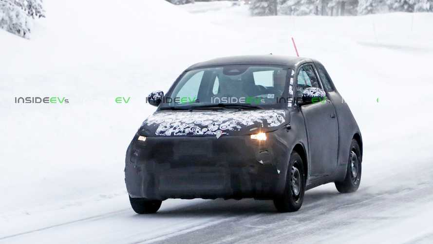 New Fiat 500 BEV spy photos