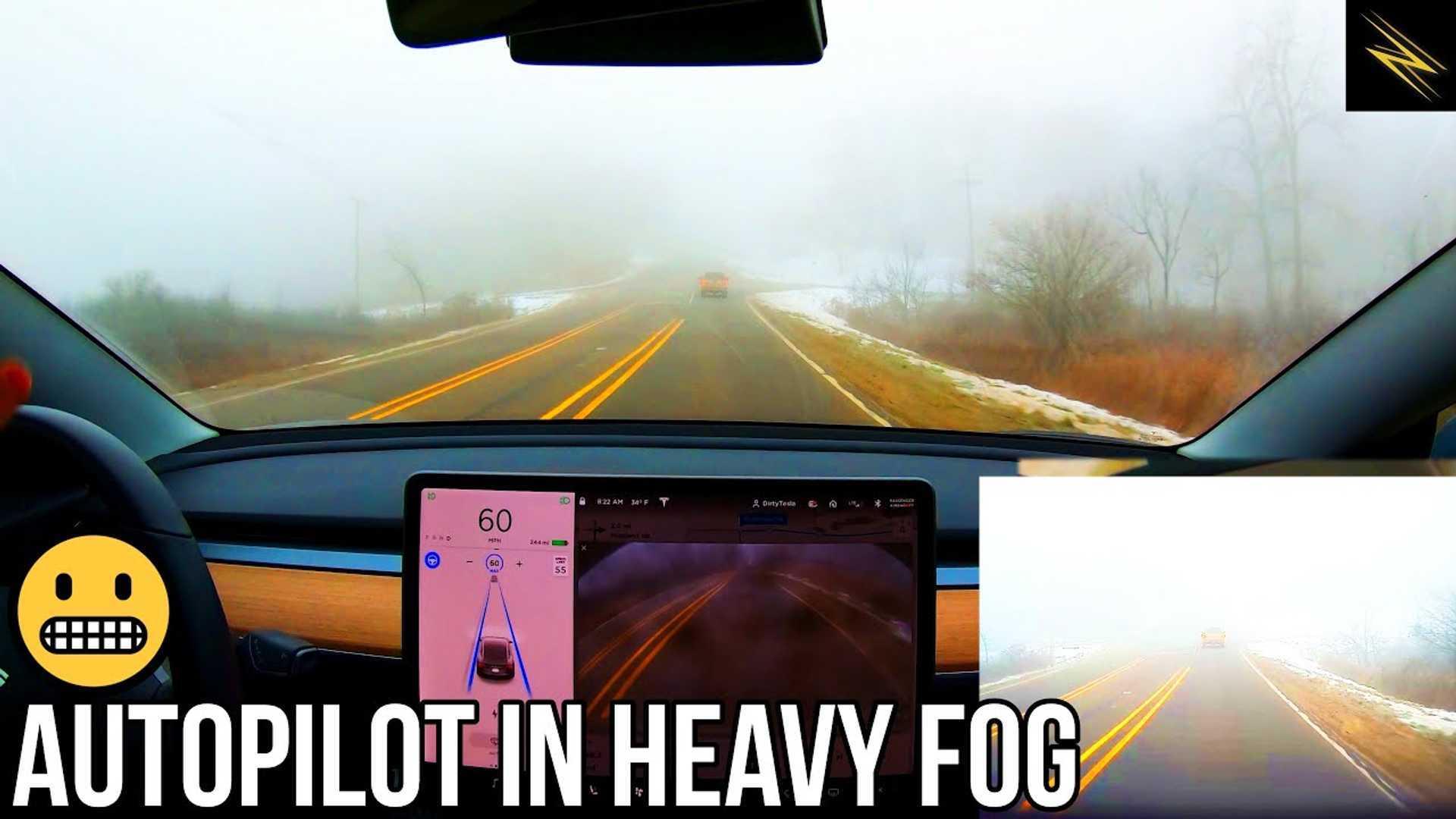 How Does Tesla Autopilot Fare In Heavy Fog?