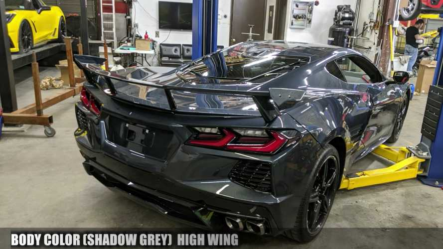 See Chevy Corvette C8 Try On All The Wings And No Wing