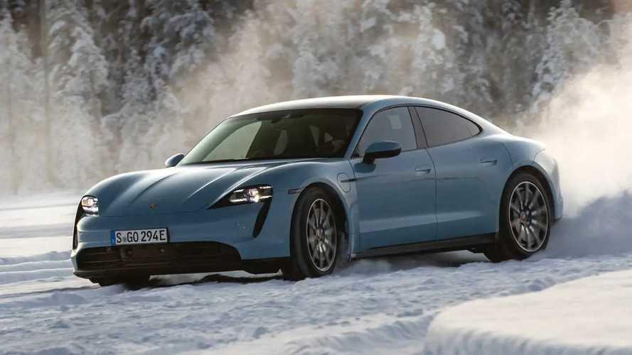 2020 Porsche Taycan 4S: Ice Driving