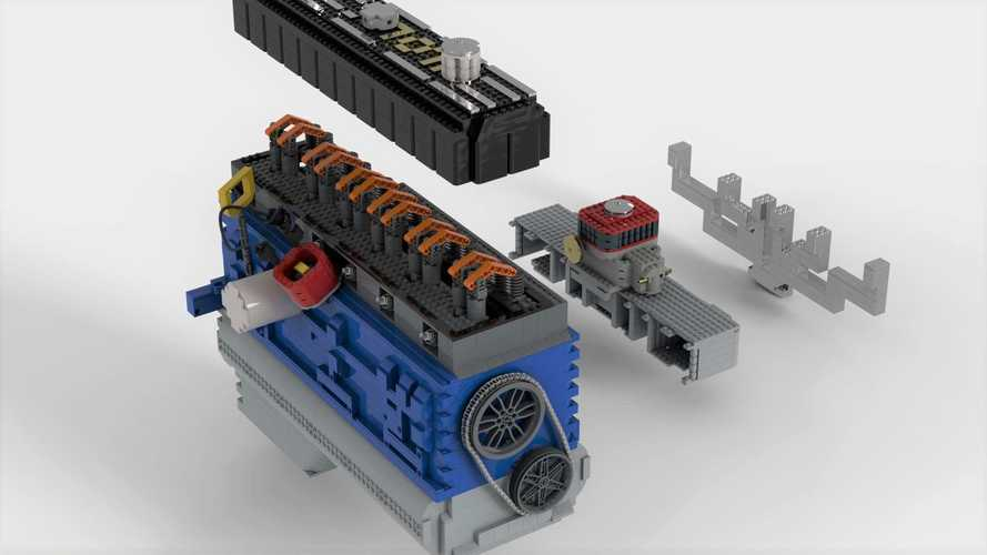 Working Lego Inline Six-Cylinder Engine Needs Your Support