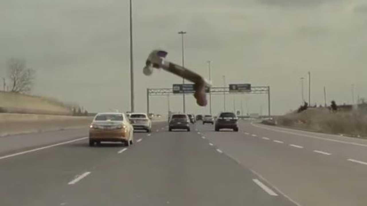 When Hammers Fly: Watch Tesla Model 3 Get Struck By Flying Hammer