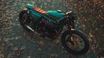 green arrow themed honda cb750 custom
