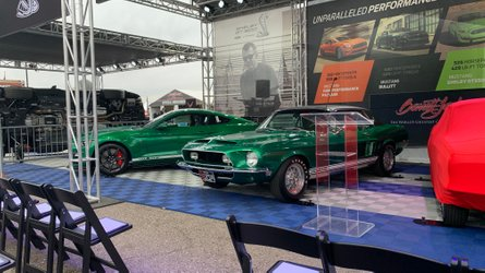 Green hornet little red share stage with 2020 shelby gt500s
