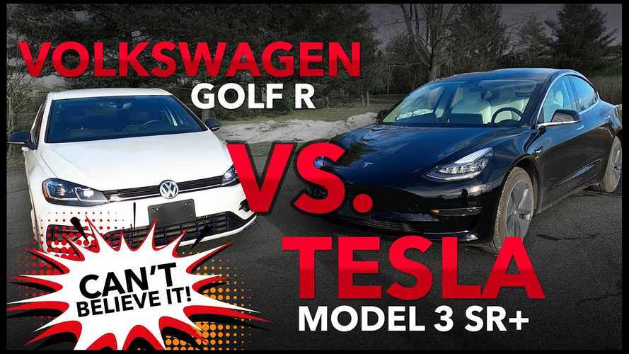 Tesla Model 3 SR+ Vs VW Golf R: The Race Results May Surprise You