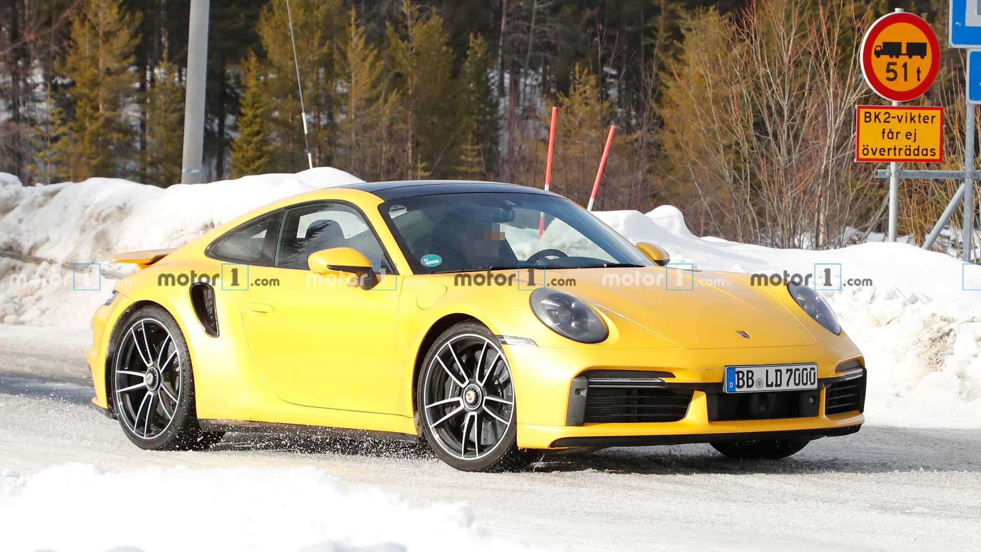 911 Turbo S Real Life Image While Testing