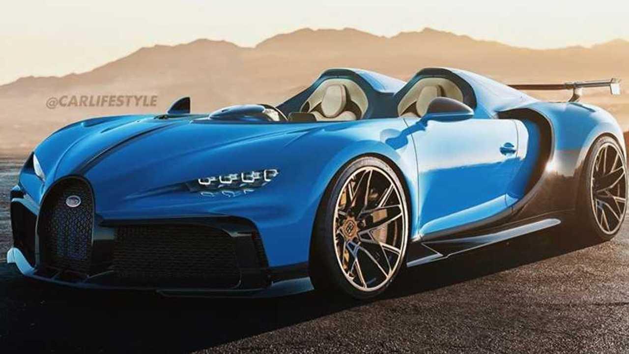 Bugatti Chiron Pur Sport Speedster rendering