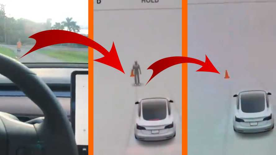 Tesla Autopilot Confuses Boy In Orange Shirt For A Cone In Brazil