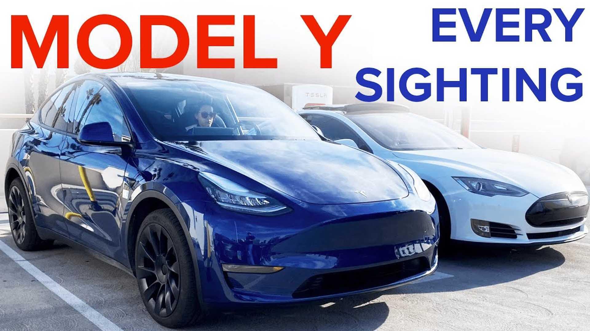 Tesla Model Y Image Extravaganza: Video Compilation Of Every Sighting